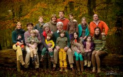 Familie Portret familiefoto in herfst bos-1