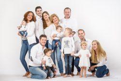 Familie Portret studio spijkerbroek-1