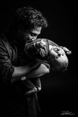 Familie Portret studio vader en kind-1