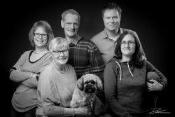Familie Portret studio zwartwit-1
