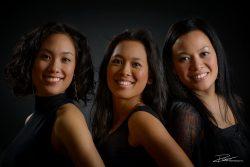 Familiefoto drie zussen in studio-1