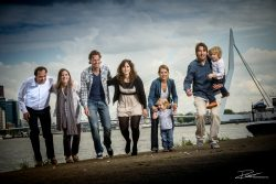 Family portrait Rotterdam Erasmus bridge-1