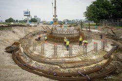 Industriele fotograaf - bouw Rotterdam Betonvlechten windturbine-2