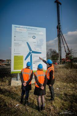 Industriele fotograaf - bouw windturbine Capelle ad Ijssel wethouders