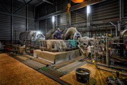 Industriele fotografie: bouw stoomturbine
