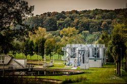 Foto van waterzuiveringsinstallatie in Zuid-Limburg. Opdracht voor projectontwikkelaar