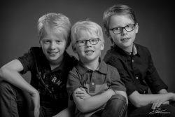 Particulier-familieportret Zwartwit in studio Rotterdam-3