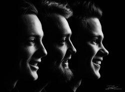 Drie broers in de studio