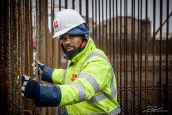 Portret - uitvoerder op bouw