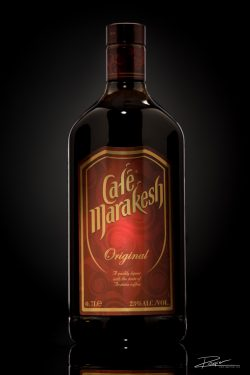 Productfotografie in de studio: Fles Café Marakesh