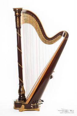 Harp, gefotografeerd in de studio