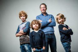 Vader en drie zoons