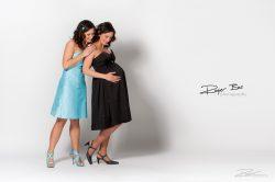 Zwangerschap fotoshoot dikke buik studio-1
