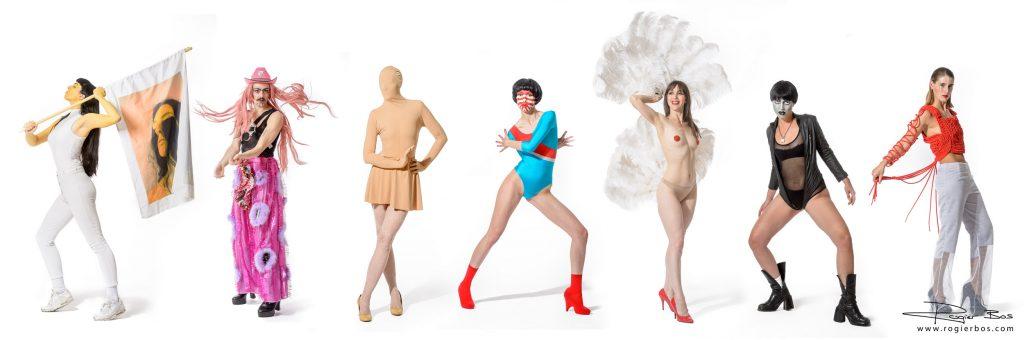 De performers van de Now & Wow Agency. Foto's gemaakt in mijn studio. Ook weer een leuk fotografie project!