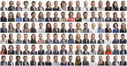 Portretten voor een grote financiele dienstverlener