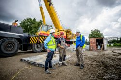 Bouw - overleg in de bouwput