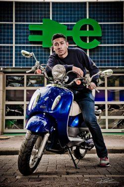 Duurzaamheid - electrische scooter Rotterdam