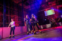 Roller disco op personeelsfeest in Van Nellefabriek