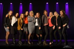 Groepsfoto collega team