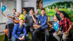 Groepsfoto feestje