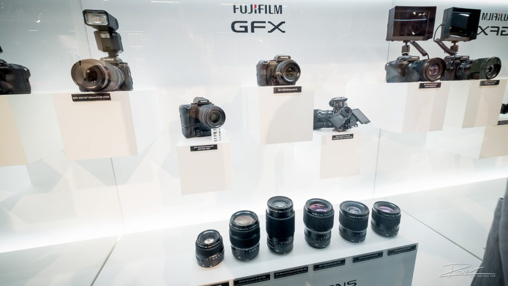 Fujifilm showing off it's new 50megapixel camera. It's behind glass and no one gets to actually try it. Does it actually have any electronics inside?