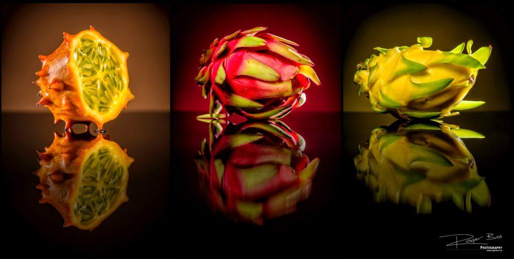 Productfotografie in de studio met exotische vruchten
