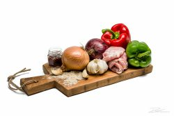 De ingrediënten voor een gerecht - kookboekfotografie