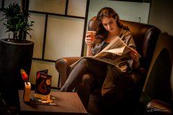 Koffie, de krant, en een lekkere stoel