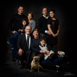 Familieportret: 3 generaties en een hond