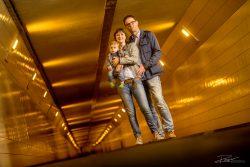 Familieportret in de Maastunnel