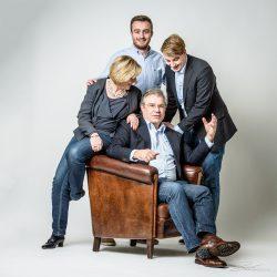 Familieportret met jarige vader