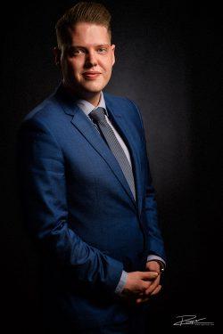 Portret tijdens LinkedIn profielfotoshoot