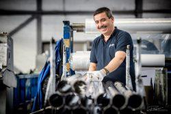 Aluminium profielen worden voorbereid voor distributie