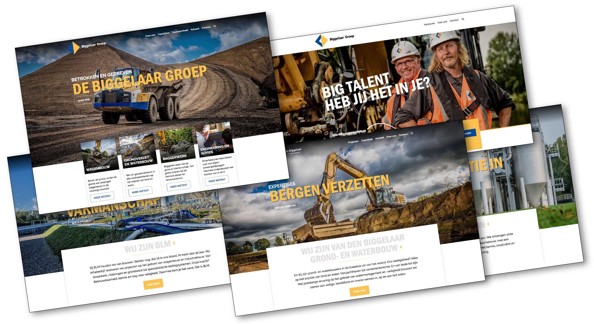 Industriele fotografie voor nieuwe websites