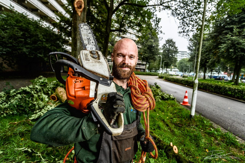 Portret houthakker in Zoetermeer