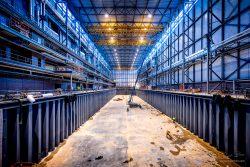 Bouw Fotograaf - constructie van 180meter droogdok voor superjachten-2