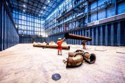 Bouw Fotograaf - constructie van 180meter droogdok voor superjachten