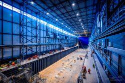 Bouw Fotograaf - constructie van 180meter droogdok voor superjachten-4