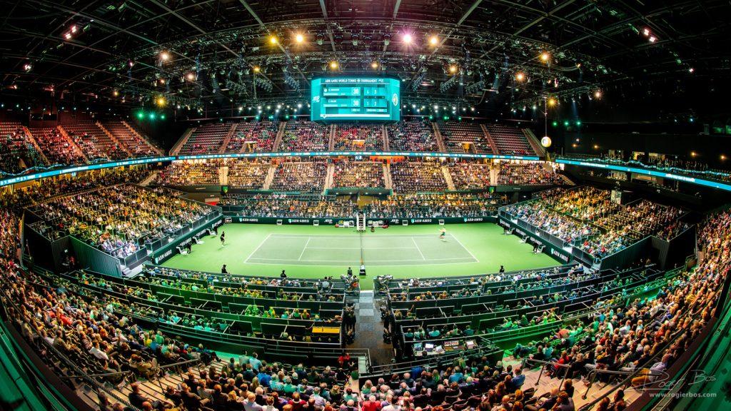 AHOY Rotterdam tijdens ABNAMRO Tennistoeurnooi.