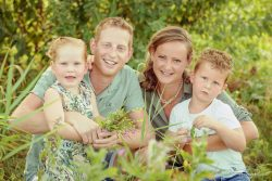 Familieportret in groen