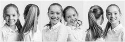 Familie portret van twee zusjes