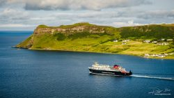 Ferry Caledonian from Uig on Skye