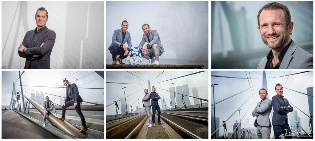 Deze heren werden geinterviewd voor een Inflight Magazine van de KLM. Daar waren foto's bij nodig. Die mocht ik op een mistige ochtend maken.