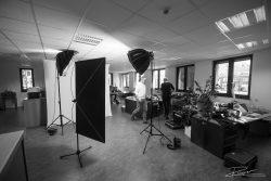 Studio op locatie in kantoor