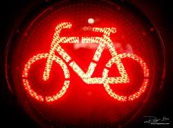 Verkeer - Fietslicht op rood