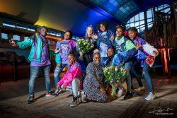 Groepsfoto dansers in Blijdorp