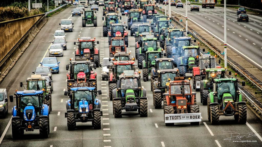 Boerenprotest op de A12