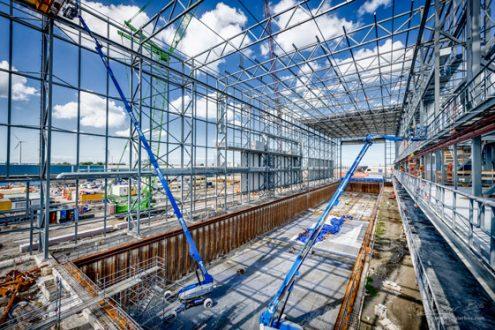 Foto van bouwproject door industrieel fotograaf Rogier Bos