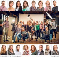 Portretten en groepsfoto van dynamische zorg organisatie.