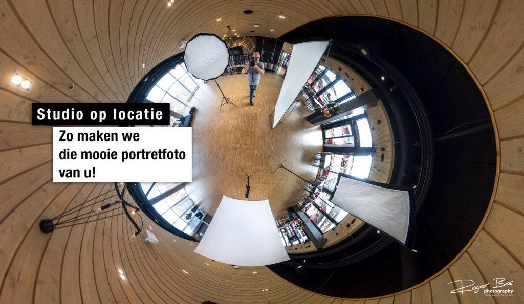 360graden foto van een studio op locatie